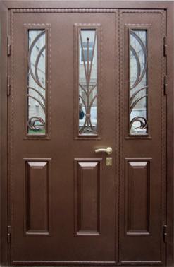стальные двухстворчатые двери со стеклом