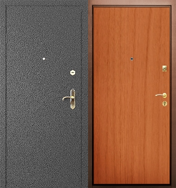 металлическая дверь с порошковым напылением ламинат