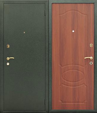дверь напыление зеленое металлическая