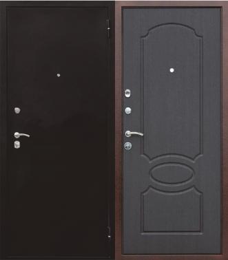 металлические двери с порошковым напылением бронза